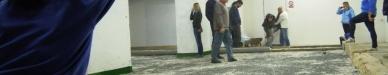 UBULODROM - foto z kryté haly na pétanque