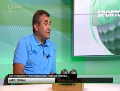 Karel Dohnal o pétanque v rozhovoru na ČT Sport